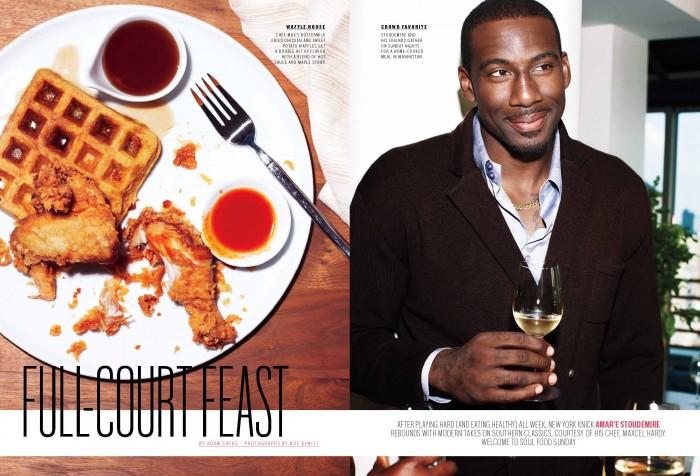 10.11 Bon Appetit Magazine Page 1 700x476 - Amar'e Stoudemire / Bon Appetit Magazine