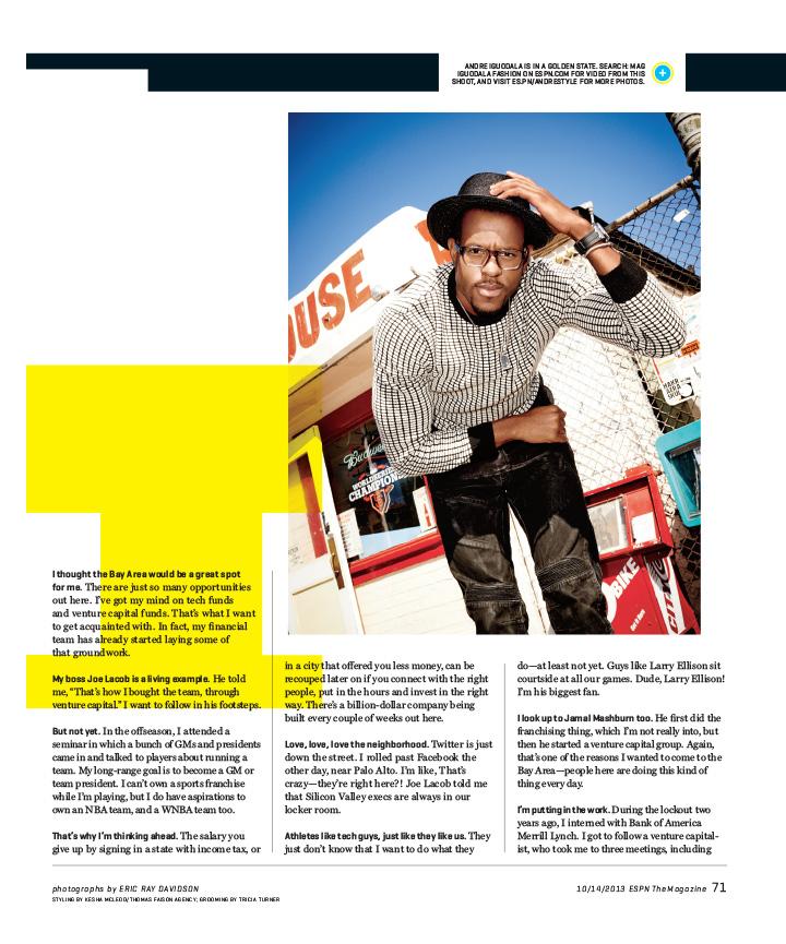 E 101413 071 - Andre Igoudala / ESPN Magazine
