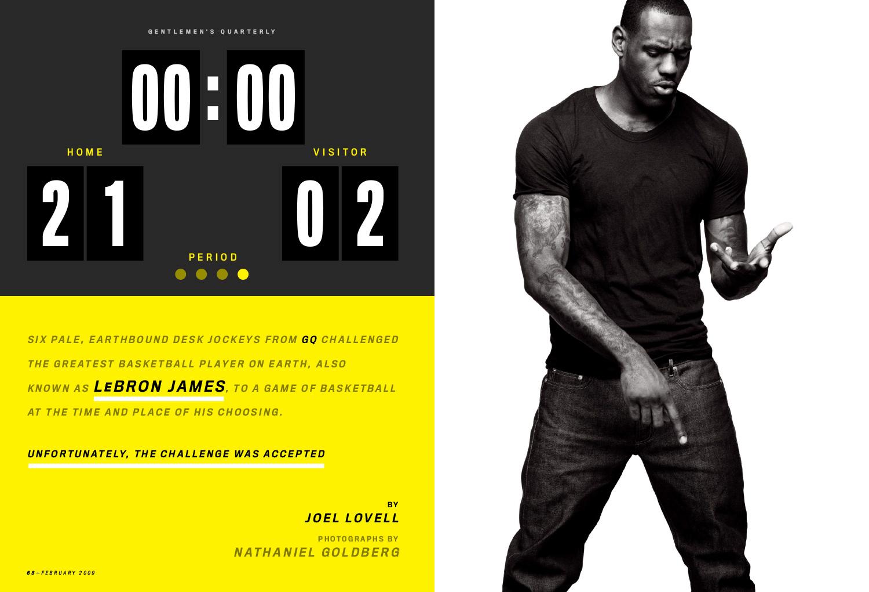 LJ GQ 2009 2 - LeBron James / GQ Magazine