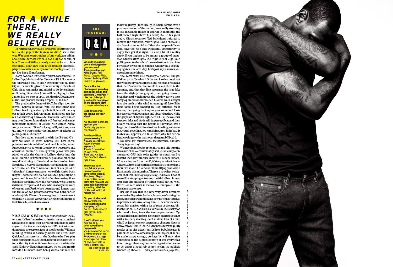 LJ GQ 2009 3 - LeBron James / GQ Magazine