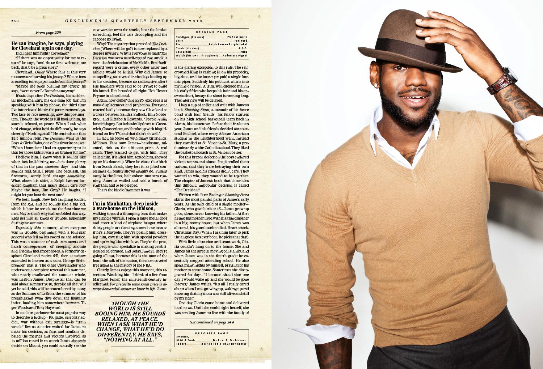 LJ GQ 2010 4 - LeBron James / GQ Magazine