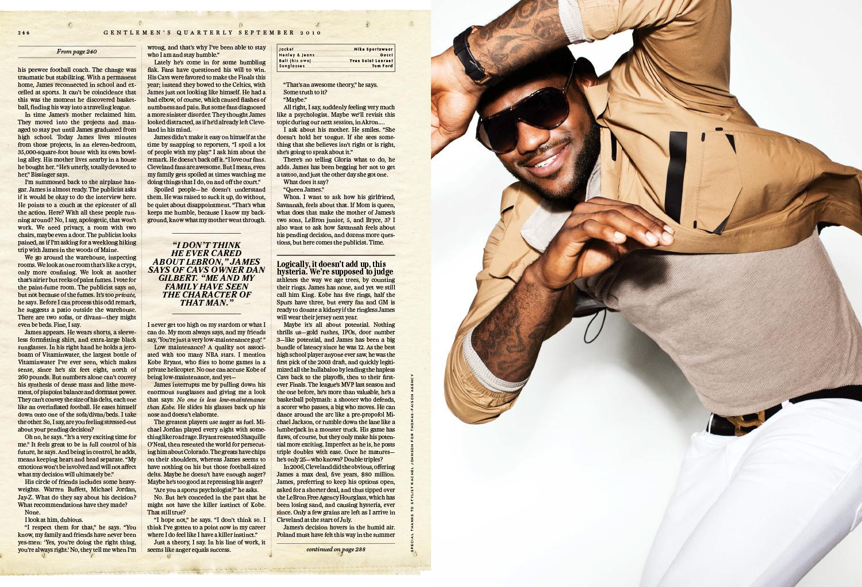 LJ GQ 2010 6 - LeBron James / GQ Magazine