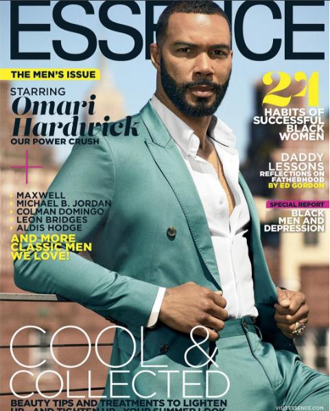Omari Essence Cover - Omari Hardwick On Essence Magazine