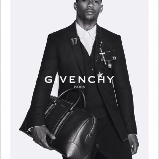 VC Black Pin Suit 320x320 - Victor Cruz Givenchy Ad Campaign