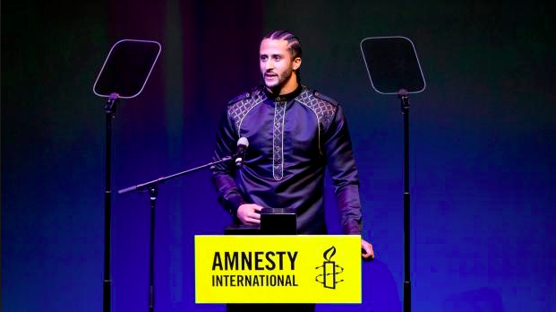 Athlete and activist Colin Kaepernick honoured with top award from Amnesty International 1 - Colin Kaepernick / Amnesty International Awards